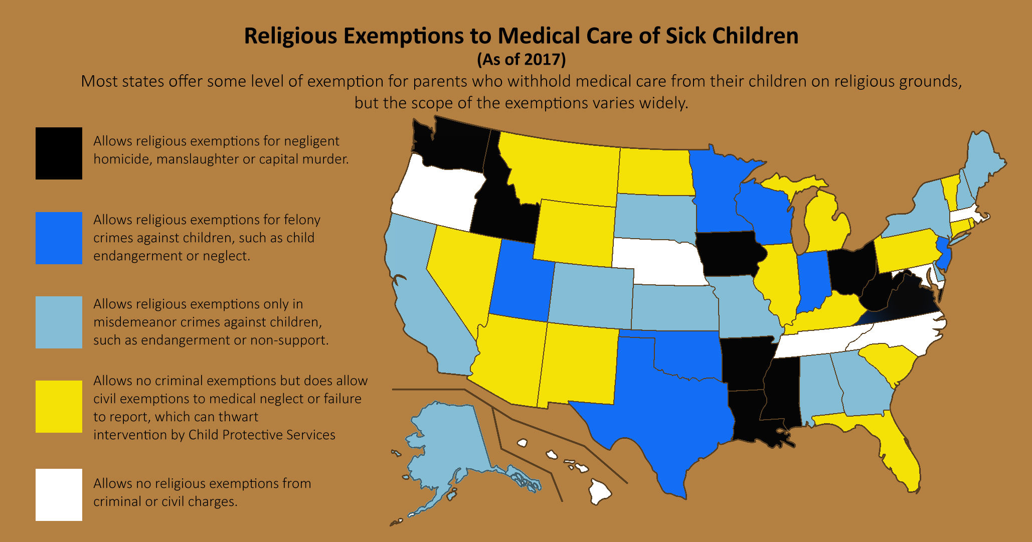 Policy Legal - Usa religion map